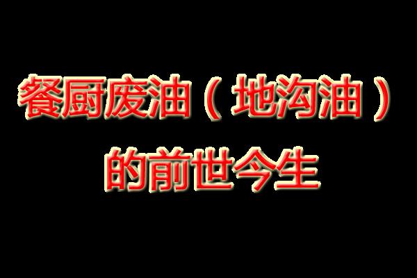 重庆餐厨废油(地沟油)的前世今生